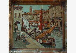 Рынок на канале в Венеции